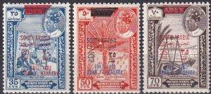 Aden Hadhramaut Mi#68-70  MNH  CV $10.50  (Z9636)