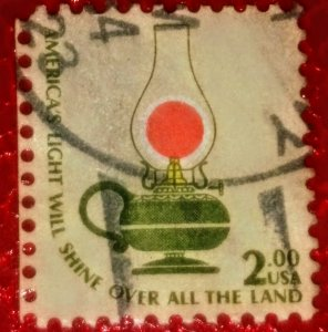 USA   1611 – 1978 $2 Americana Series: Kerosene Lamp used XF