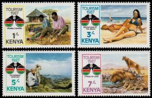 ✔ KENYA 1987 - TOURISM & WILDLIFE - MI. 388/391 ** MNH [AFKN388]