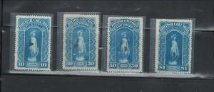CANADA,- BRITISH COLUMBIA - LAW STAMPS 1879-1880 MNH (NO GUM)