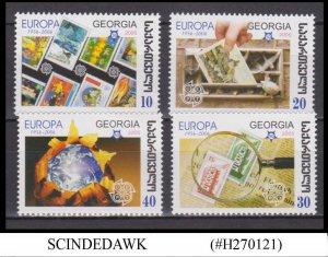 GEORGIA - 2005 50th ANNIVERSARY OF FIRST EUROPA STAMP 4V MNH
