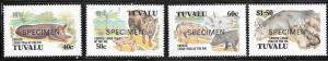 Tuvalu #685-688  Year of the Pig( MNH) Specimen copies CV $8.00