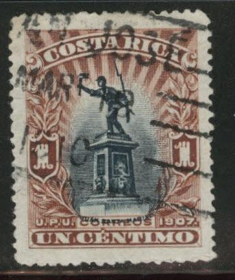 Costa Rica Scott 59 used 1907 stamp