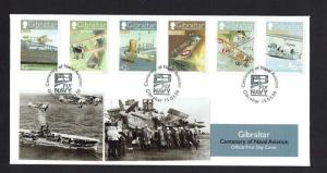Gibraltar: 2009 Centenary of Naval Aviation, unaddressed First day cover,
