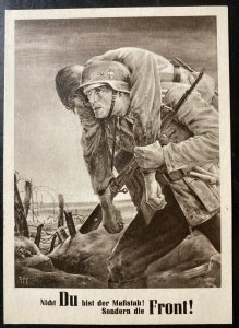 1943 Krakow GG Germany First Day Postcard Cover For Our Soldier In The Front