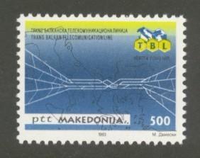 Macedonia Sc# 13 MNH Trans-Balkan Telecommunications Network