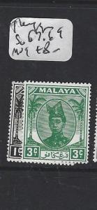 MALAYA  TRENGGANU   (PP1605B)  SULTAN 1C, 3C  SG 67, 79   MOG