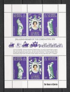 Gilbert Islands #312 Coronation Souvenir Sheet MNH