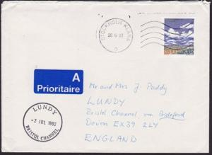 SWEDEN TO LUNDY 1992 cover with Lundy arrival cds...........................5150