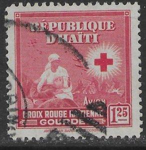 Haiti C30  used.  Red Cross.
