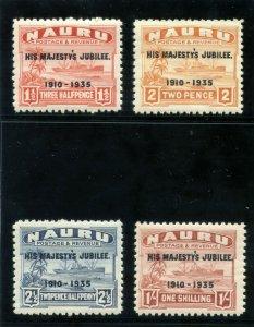 Nauru 1935 KGV Silver Jubilee set complete superb MNH. SG 40-43. Sc 31-34.