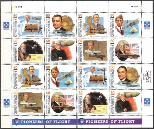 Micronesia 1995 Aviation Space Pioneers of Flight ( VI set ) Sheet 2 sets MNH