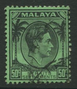 Straits Settlements - Scott 249 - KGVI Definitive - 1938 - FU - 50c Stamp