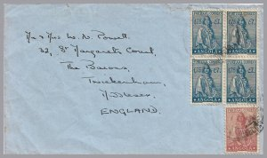 Angola - (Portugal) 1947 Ceres cover via Leopoldville to England