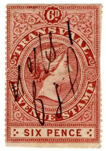 (I.B) Transvaal Revenue : Duty Stamp 6d