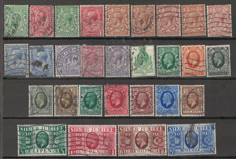 COLLECTION LOT OF #1853 GREAT BRITAIN 29 STAMPS 1912+ CV+$48 CLEARANCE