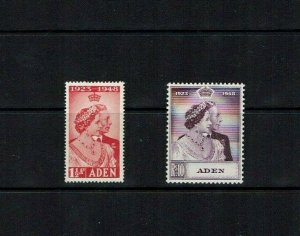 Aden: 1948  Royal Silver Wedding,  Mint