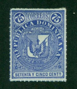 Dominican Republic 1880 #43 MNG SCV (2020) = $5.75