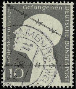 GERMANY 1953 COMMEMORATING P.O.W. USED (VFU) SG1091 Wmk.NO P.14 SUPERB