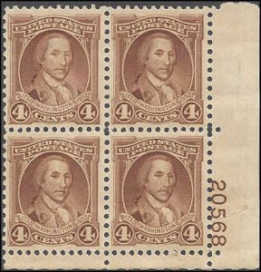 709 Mint,OG,NH... Plate Block of 4... SCV $7.00