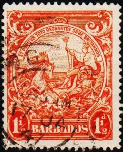 Barbados. 1938 1 1/2d  S.G.250 Fine Used