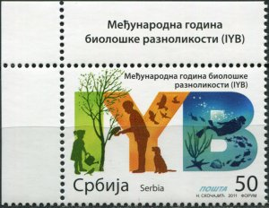 Serbia 2011. International Year of Biodiversity (MNH OG) Stamp