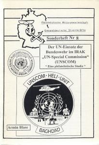 Der UN-Einsatz der Bundeswehr im IRAK UN Special Commission UNSCOM Iraq Covers