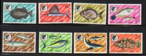 Ascension Sc 118-25 1968 Fish stamp set mint
