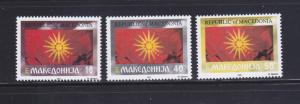 Macedonia 5-7 Set MNH Flags