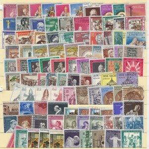 500+ Different Vatican City Stamps Mixed Condition