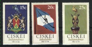 South Africa-Ciskei 2-4   Mint NH VF 1981 PD