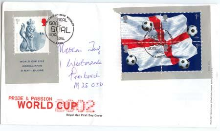Great Britain - 2002 World Cup First Day Cover