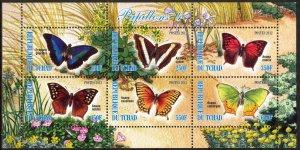 Chad 2012 Butterflies (4) MNH Cinderella !