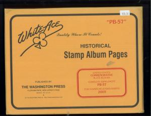 2005 White Ace U.S Commemorative Issue Plate Block Stamp Supplement Pages PB-57