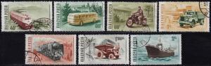 Hungary - 1955 - Scott #1141-47 - used - Transportation