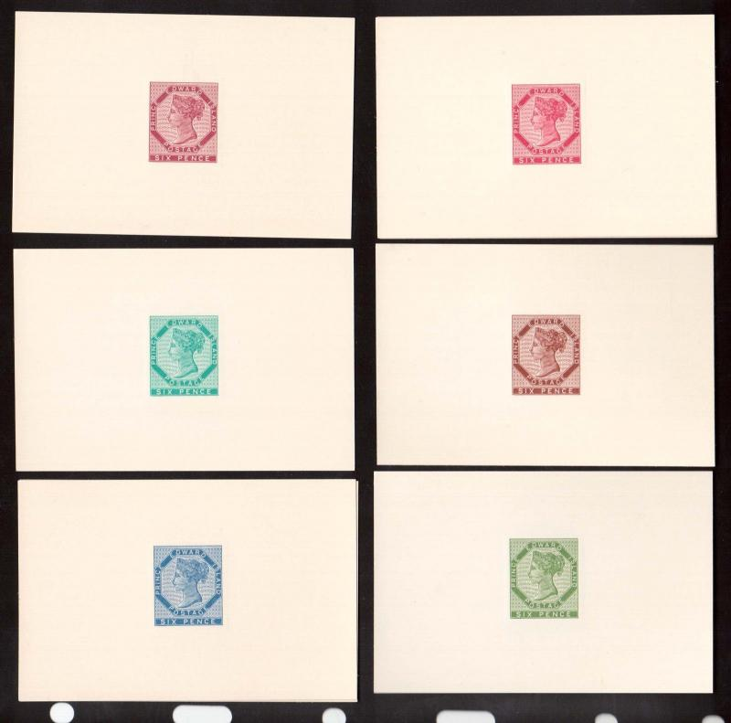 Prince Edward Island #7DP XF Set Of Ten Different Harmer Die Proofs