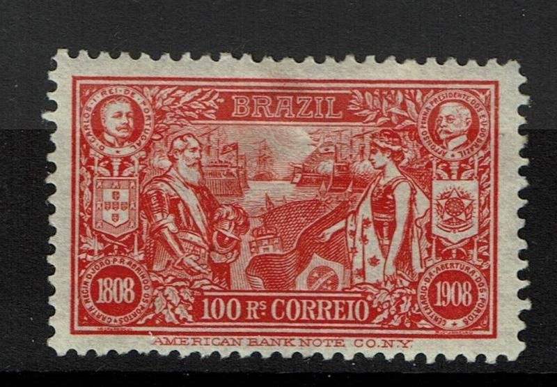 Brazil SC# 190, Mint Hinged, small Hinge Remnant, small gum thin - S477