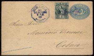 Guatemala 1900 Salama UPU Cover Coban 92791