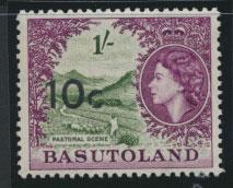 Basutoland  SG 64   Mint Never Hinged  - Opt surcharge   Type I