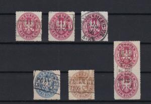 prussia 1861 - 66 used stamps  ref r13384