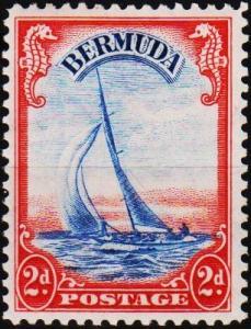 Bermuda. 1938  2d  S.G.112a Mounted Mint