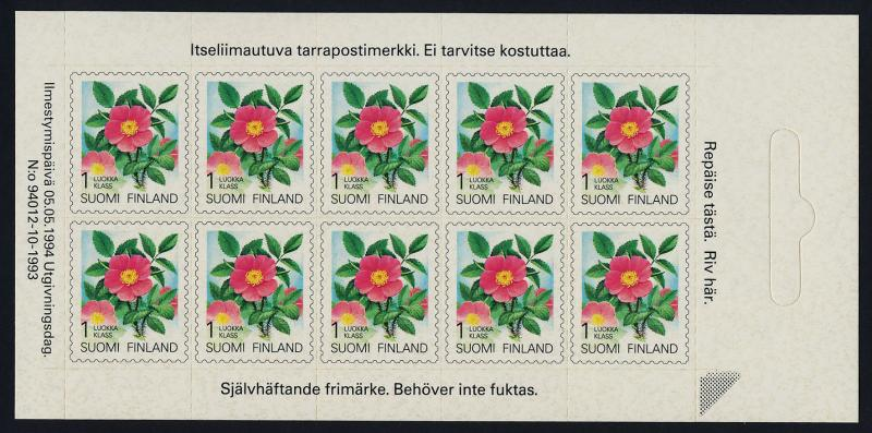 Finland 840 sheet MNH Karelian Rose, Flowers