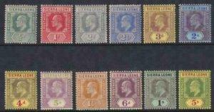 Sierra Leone 1932 SC 140-152 Mint Set