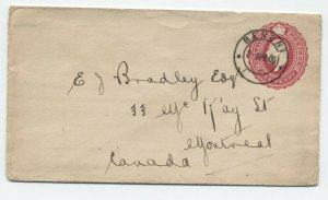 1906 Transvaal 1d stationery Benoni  used to Canada [y6271]