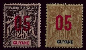 French Guiana SC#90-91 Mint F-VF...Worth a Close look!!