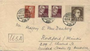 Germany Soviet Zone 12pf+8pf Goethe Anniversary Semi-Postal with East Germany...