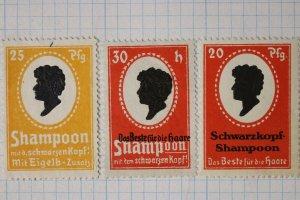Schwarzkopf shampoo best hair egg yolk additive 20pfg 25 30h ad poster stamp set