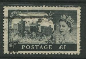 STAMP STATION PERTH Great Britain #312 QEII Castle Definitive Used CV$37.50.