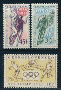 Czechoslovkia - Melbourne Olympic Games Set MNH Athletics (1956)
