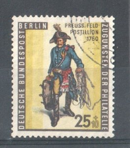 1955 WEST BERLIN GERMANY - S.G: B 128 - STAMP DAY - USED